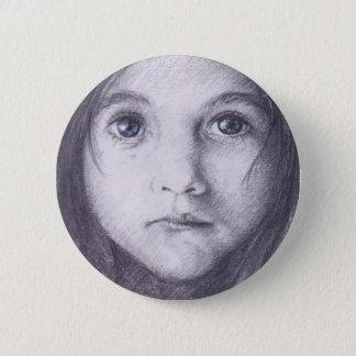 Bóton Redondo 5.08cm botão da menina dos olhos azuis