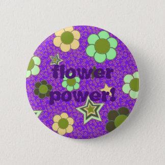 Bóton Redondo 5.08cm Botão da mensagem de texto de flower power
