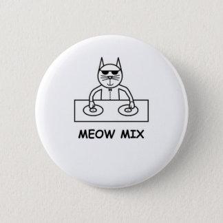 Bóton Redondo 5.08cm Botão da mistura do Meow