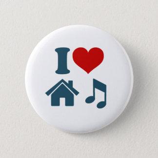 Bóton Redondo 5.08cm Botão da música da casa do amor (branco)