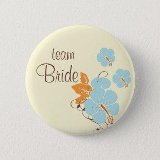 Bóton Redondo 5.08cm Botão da noiva da equipe