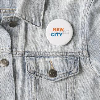 Bóton Redondo 5.08cm Botão da Nova Iorque