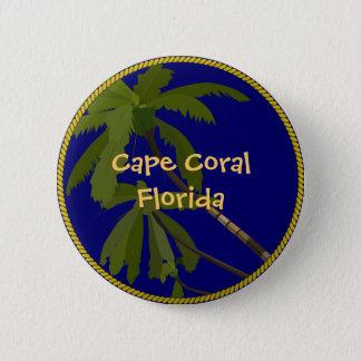 Bóton Redondo 5.08cm Botão da palmeira de Florida do cabo/pino corais