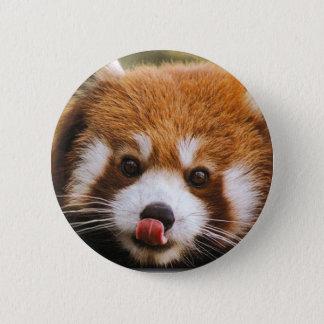Bóton Redondo 5.08cm Botão da panda vermelha