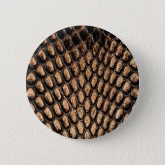 Bóton Redondo 5.08cm Botão da pele de cobra