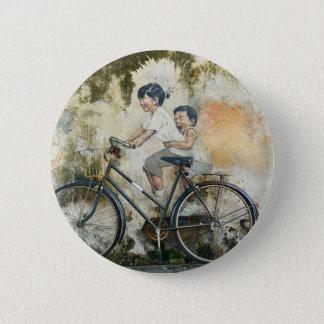 Bóton Redondo 5.08cm Botão da pintura mural da bicicleta