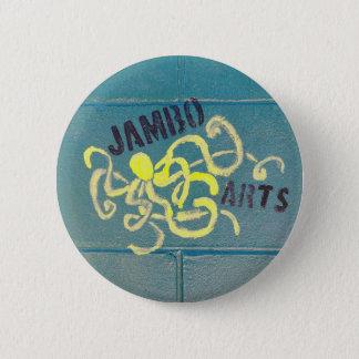 Bóton Redondo 5.08cm Botão da pintura mural do polvo das artes de Jambo