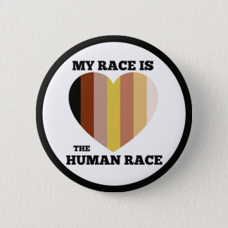 "Bóton Redondo 5.08cm Botão da raça humana (2,25"")"