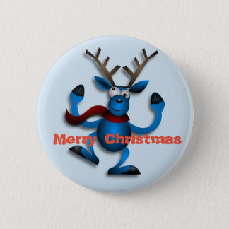 Bóton Redondo 5.08cm Botão da rena do Natal da dança