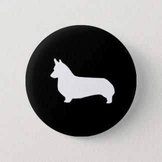 Bóton Redondo 5.08cm Botão da silhueta do Corgi - botão do cão do corgi