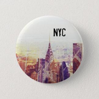 Bóton Redondo 5.08cm Botão da skyline de New York
