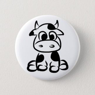 Bóton Redondo 5.08cm Botão da vaca