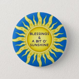 Bóton Redondo 5.08cm Botão das bênçãos da luz do sol