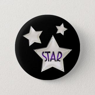 Bóton Redondo 5.08cm Botão das estrelas do art deco