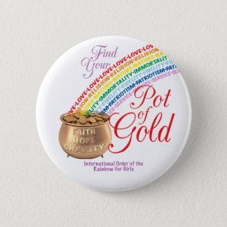 Bóton Redondo 5.08cm Botão das meninas do arco-íris