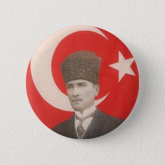 Bóton Redondo 5.08cm Botão de Ataturk
