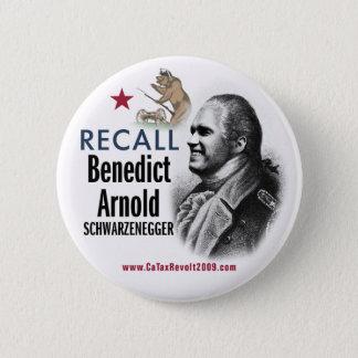 Bóton Redondo 5.08cm Botão de Benedict Arnold Schwarzenegger do aviso