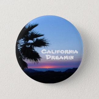 Bóton Redondo 5.08cm Botão de Califórnia Dreamin