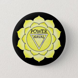 Bóton Redondo 5.08cm Botão de Chakra do qui do poder do amarelo do