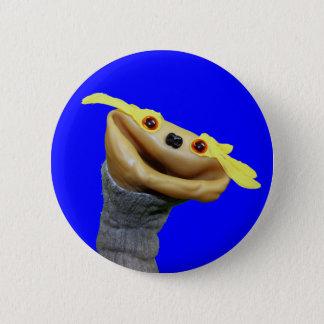 Bóton Redondo 5.08cm Botão de Chester (azul)