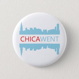 Bóton Redondo 5.08cm Botão de Chicago - I CHICA-WENT