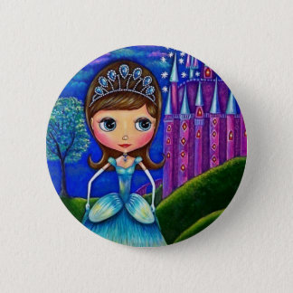 Bóton Redondo 5.08cm Botão de Cinderella