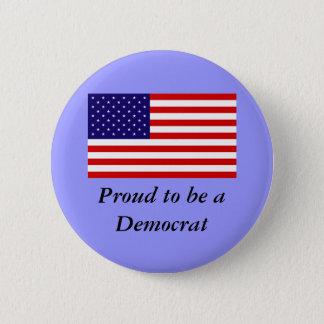Bóton Redondo 5.08cm Botão de Democrata