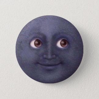 Bóton Redondo 5.08cm Botão de Emoji da lua