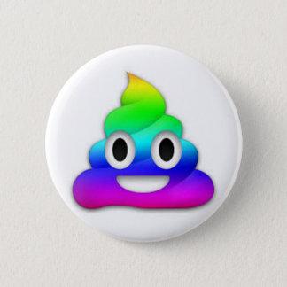 Bóton Redondo 5.08cm Botão de Emoji do tombadilho do arco-íris