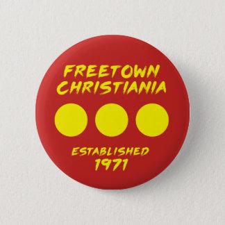 Bóton Redondo 5.08cm Botão de Freetown Christiania Dinamarca