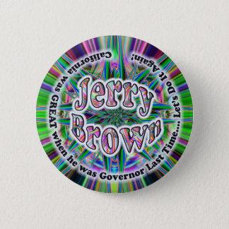 Bóton Redondo 5.08cm Botão de Jerry Brown 4 GOV