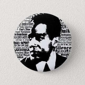 Bóton Redondo 5.08cm Botão de Langston Hughes