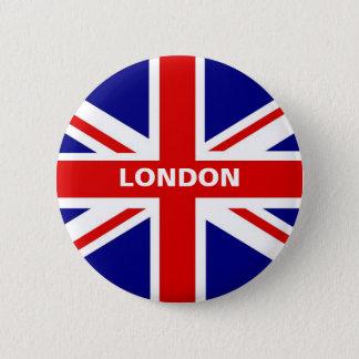 Bóton Redondo 5.08cm Botão de Londres Union Jack