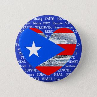 Bóton Redondo 5.08cm Botão de Maria 2017 do furacão da bandeira de