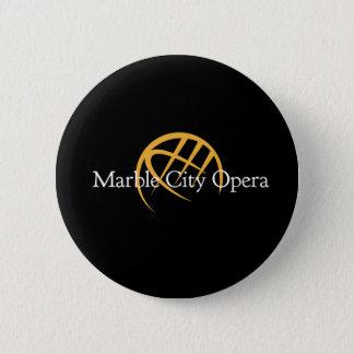 Bóton Redondo 5.08cm Botão de mármore da ópera da cidade