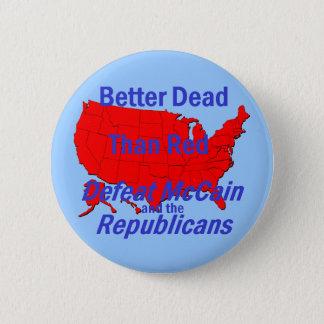 Bóton Redondo 5.08cm Botão de McCain da derrota