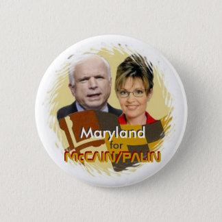 Bóton Redondo 5.08cm Botão de McCain/Palin Maryland