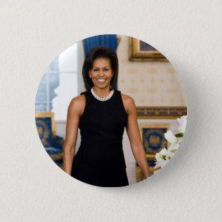 Bóton Redondo 5.08cm Botão de Michelle Obama