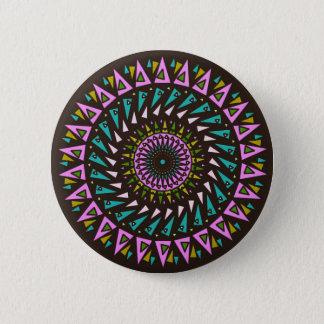 Bóton Redondo 5.08cm Botão de néon cósmico azul cor-de-rosa preto da
