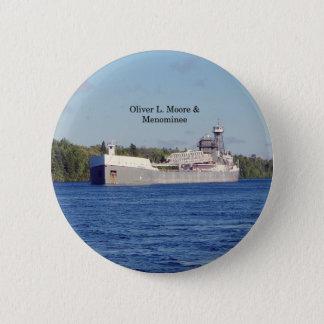 Bóton Redondo 5.08cm Botão de Oliver L. Moore & do Menominee