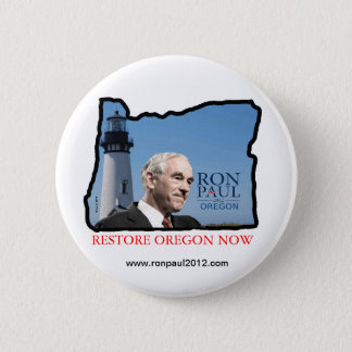 Bóton Redondo 5.08cm Botão de Oregon Ron Paul