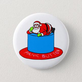 Bóton Redondo 5.08cm Botão de pânico de Papai Noel