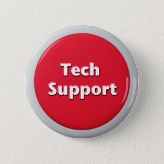 Bóton Redondo 5.08cm Botão de pânico vermelho do suporte técnico