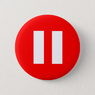 Bóton Redondo 5.08cm Botão de pausa