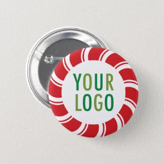 Bóton Redondo 5.08cm Botão de Pinback do feriado do Natal com logotipo