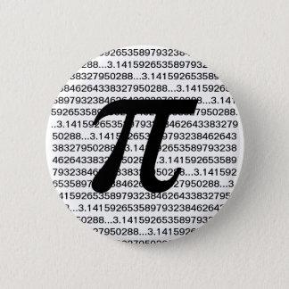 Bóton Redondo 5.08cm Botão de Pinback do geek da matemática do Pi 3,14
