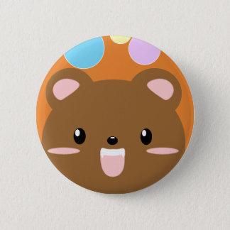 Bóton Redondo 5.08cm Botão de Pinback do urso de Kawaii (escolha a cor)