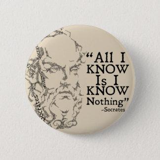 Bóton Redondo 5.08cm Botão de Socrates Sketicism
