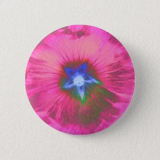 Bóton Redondo 5.08cm Botão de veludo do rosa da flor de Hollyhcok