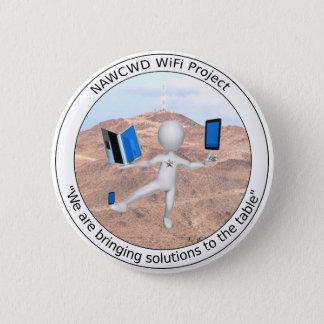 Bóton Redondo 5.08cm Botão de WiFi